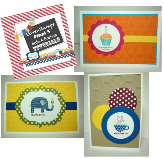 Meg's Final 5 Weeks of Sale-A-Bration Tutorials: 3 weeks left, here's my Patterned Occasions card ideas