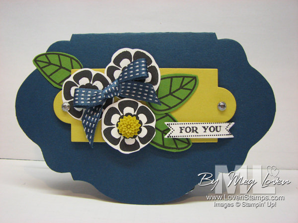 Alternate card shape - use the Oval Accent Die with Betsy's Blossoms