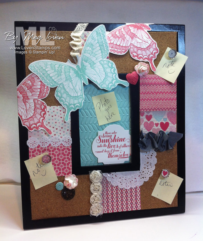 Swallowtail Pinboard Idea: easy to make with the Artisan Embellishments Kit