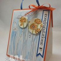 Pleasant Poppies Gift Bag: I *heart* watercoloring