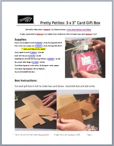 Pretty Petites Gift Box Tutorial from LovenStamps
