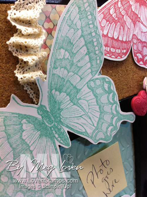 Swallowtail: not just for cards.  Pinboard butterfly idea