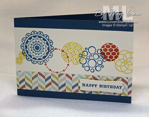 Masculine Card Ideas - just change your color scheme with Circle Circus