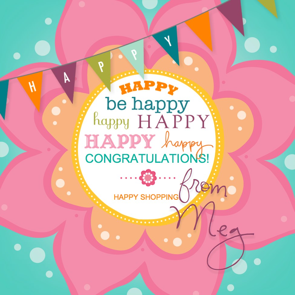 free stamp set drawing happy banner, created with My Digital Studio (MDS)