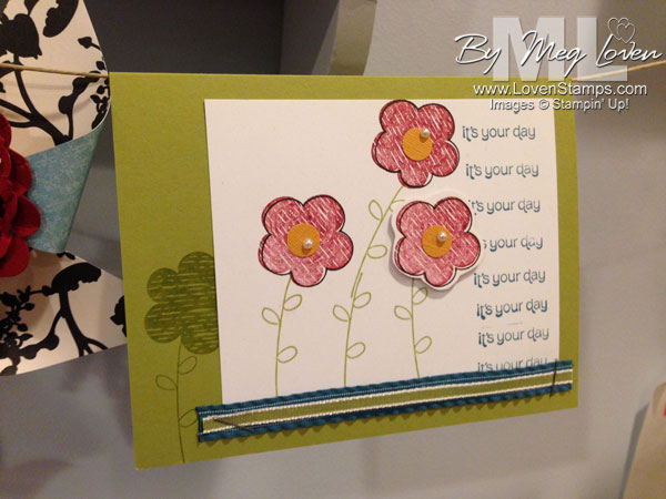 Raining Flowers: Stampin Up Convention Make N take card project