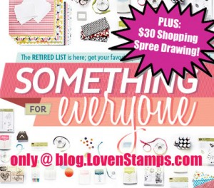 Shopping Spree Drawing with your retiring accessories & stamps order