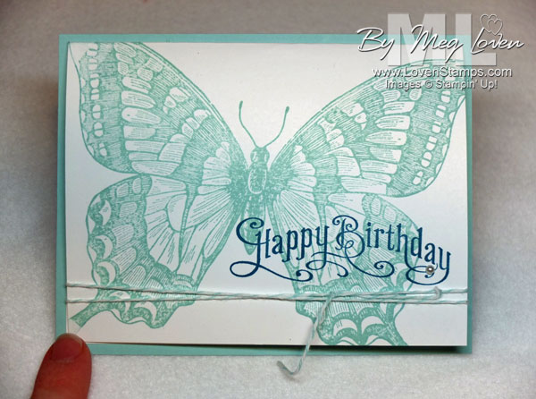 Swallowtail: sweet & simple note card with white space inside (stamping tip)