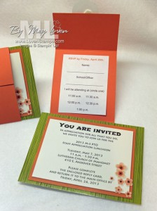 PTO luncheon invitation envelope - designed with My Digital Studio