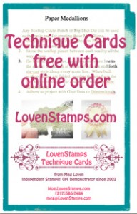 Stampin Up Technique Cards free with online orders: LovenStamps.com