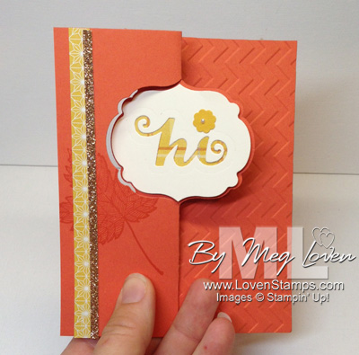 Label Card Thinlits Die card idea from LovenStamps with Sweater Weather Designer Paper (includes video)