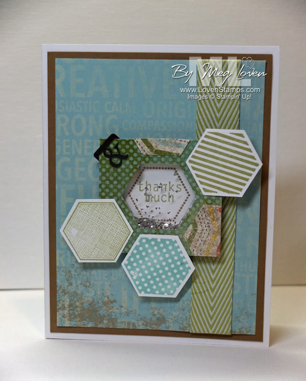 Six-Sided Sampler stamp set: a simple shaker card tutorial with your rubber scraps
