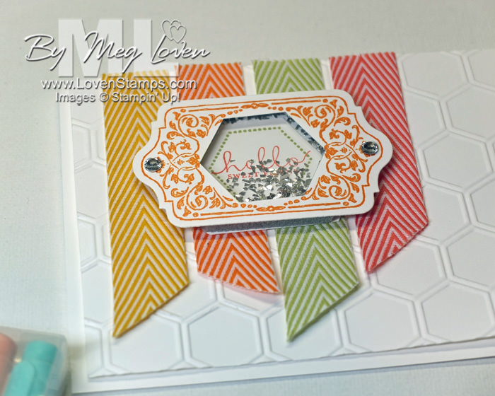 Chalk Talk & Hexagon Punch Shaker Cards - link to photo tutorial from LovenStamps