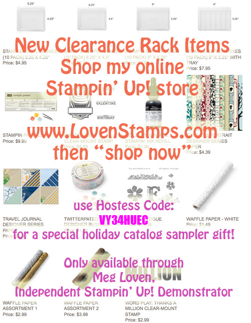 Clearance Rack New Items - LovenStamps for Holiday Sampler