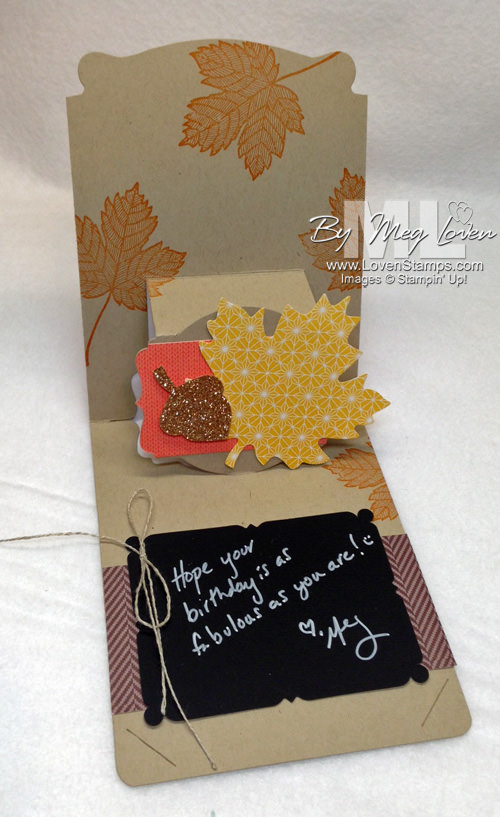 Label Pop N Cuts card with Magnificent Maple - from LovenStamps