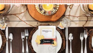 Thankful Tablescape holiday table decor idea for DIY craft project - LovenStamps