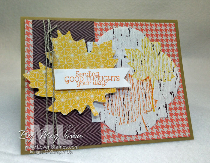Thankful Tablescape card for guys - with Magificent Maple and video tutorial, from LovenStamps