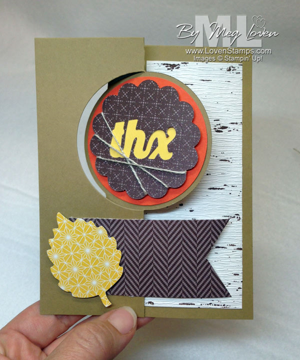 Circle Card Thinlits for Stamps in the Mail Club with Meg.Thankful Tablescape kit - not just for table decor!  LovenStamps
