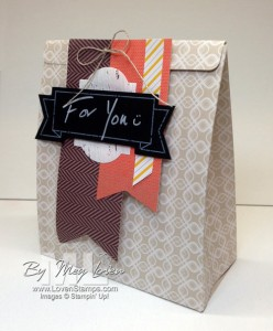 Thankful Tablescape Simply Created Kit = not just for table decor! Tutorial for this simple & fun DIY gift bag craft. From LovenStamps