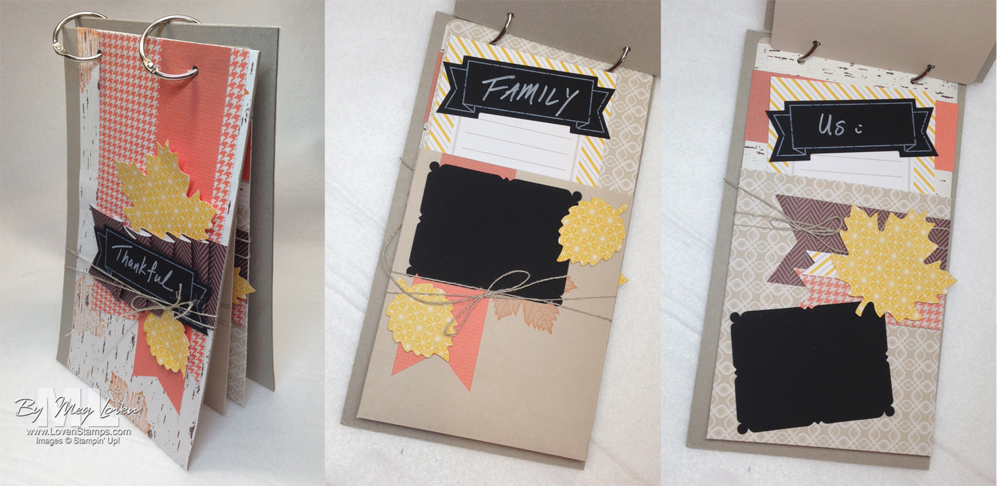 Thankful Tablescape Family Journal Project Tutorial with videos - from LovenStamps
