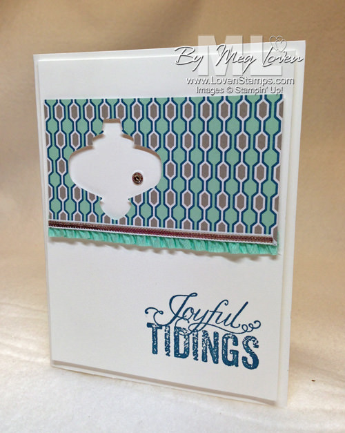 Winter Frost DSP and the Christmas Ornament Punch - Negative Space card idea from LovenStamps