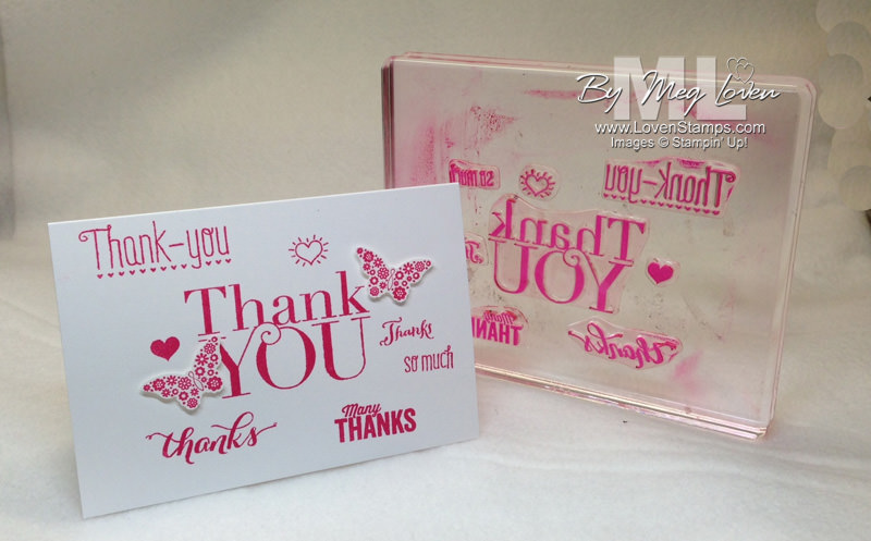 Use your Clear Blocks as Technique Tools!  Stamps:Another Thank You Photopolymer Set - from LovenStamps