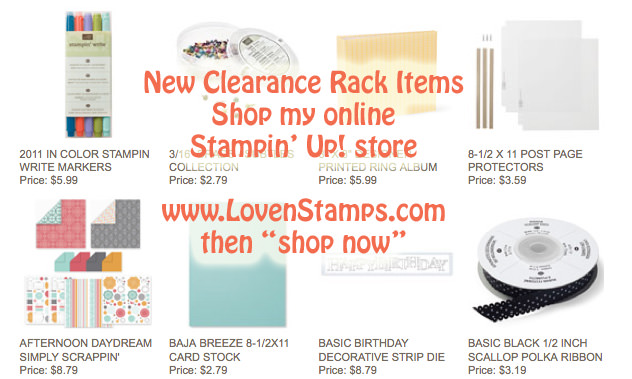 clearance-rack-today - at LovenStamps.com