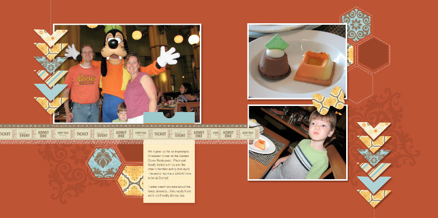 Disney digital scrapbook - Character Dinner with MDS Keep This Memory Template by LovenStamps