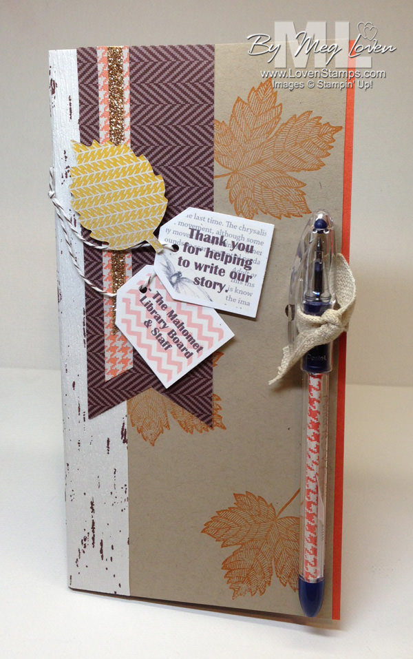 Notebook and pen gift set - Thankful Tablescape Simply Created Kit makes this easy! By LovenStamps