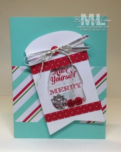 Merry Little Christmas Bundle - Video Tutorial on making Shaker Cards with your rubber scraps! From LovenStamps