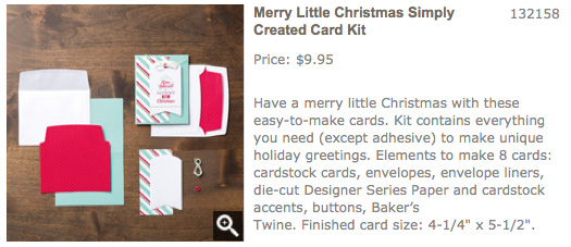 Merry Little Christmas Simply Created Card Kit from Lovenstamps