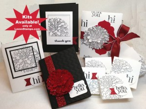 Cards that SHINE - Regarding Dahlias Stamps in the Mail Club, only from Meg Loven - Lovenstamps.com