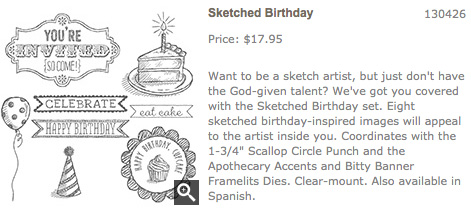Sketched Birthday stamp set
