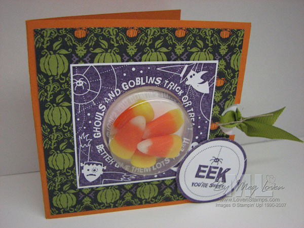 Sweet Treat Cups - Halloween Card with slider panel from LovenStamps
