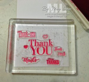 Technique Tuesday: Clear Block Composing tutorial - from LovenStamps, perfect for Photopolymer Another Thank You!