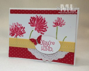 Too Kind stamp set -- perfect for 2-Step Stamping Techniques! Video Tutorial on 2 Step Stamping from LovenStamps