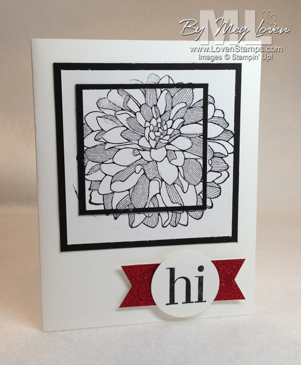 Double Stamping Technique from LovenStamps with the Regarding Dahlias stamp set - Video Tutorial for Stamps in the Mail Club