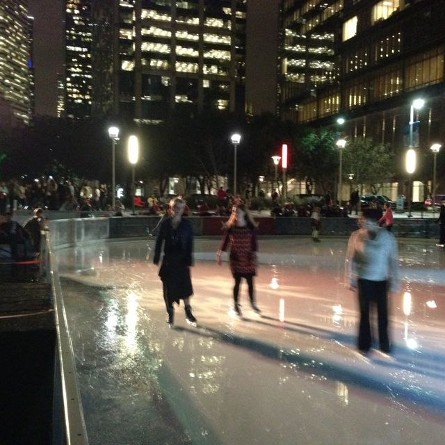 ice skating outdoors in downtown Houston #leadership2014