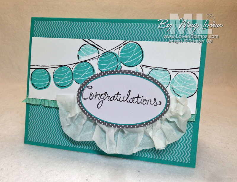 Happy Congratulations Ruffle Card - with Masking Technique Video Tutorial from LovenStamps