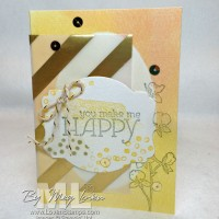 Join the Gold Rush: Happy Watercolor Note Card