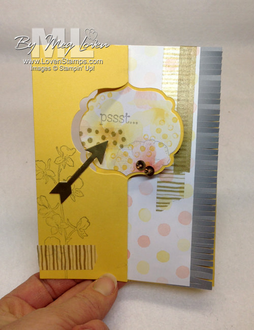 Label Card Thinlits with the Happy Watecolor stamp set - a How To video on making the third panel card.  From LovenStamps