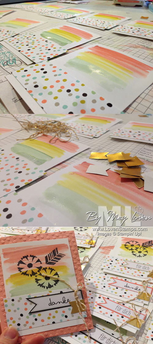 Step by step card making with Petal Parade by LovenStamps