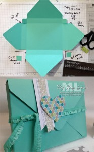Envelope Punch Board: Make a Gift Box for Cards!  Video Tutorial by LovenStamps