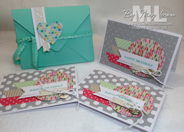 Envelope Punch Board: DIY Gift Box and Card set with the Happenings Stamps in the Mail Club (March) from LovenStamps