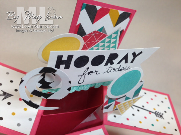 Geometrical: DIY Pop-Up Box Card with Video Tutorial link from LovenStamps