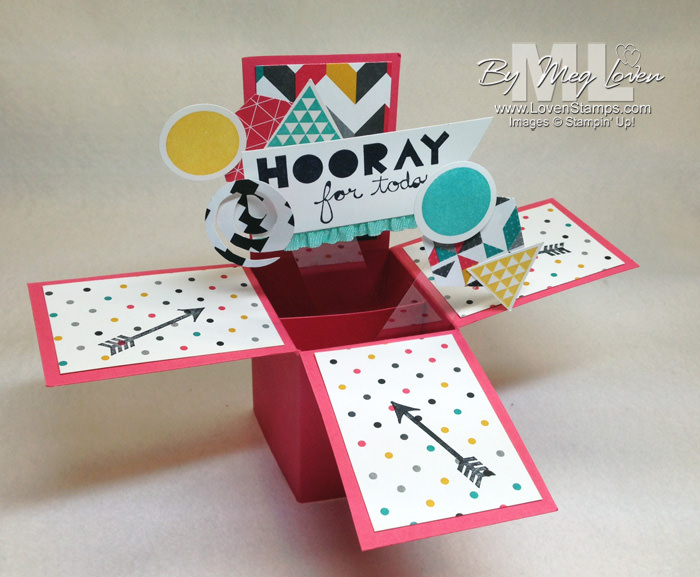 Geometrical Pop-Up Box Card by LovenStamps