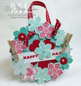 Spring has Sprung! Mini Wreath with the Petite Petals Punch & stamp set, by LovenStamps