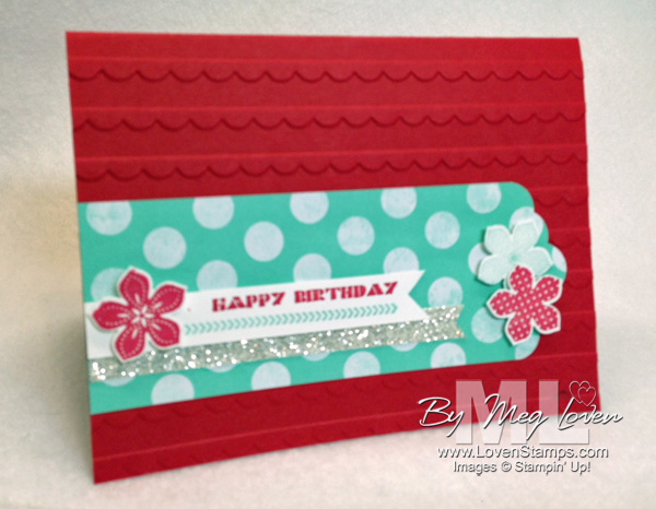 Clean & Simple Cards: Scallop Tag Topper Punch with Petite Petals Punch & stamps by LovenStamps