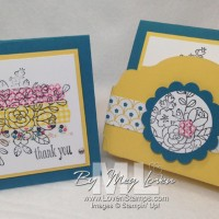 Gingham Garden Washi Tape Cards & A Simple Gift Box