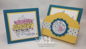 Stamp on Washi Tape - Card & Box gift set, perfect for end of school gifts for teachers! Video Tutorial from LovenStamps