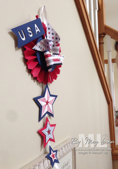 Be the Star - 4th of July DIY home decor project by LovenStamps (with My Paper Pumpkin pinwheels)